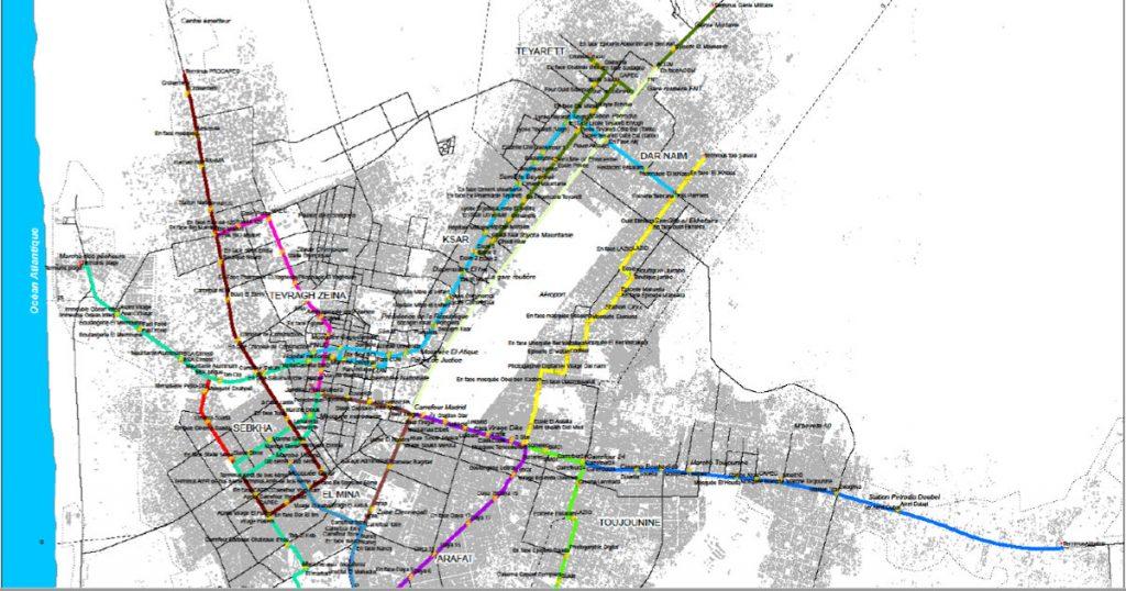Outdated Public Transport Map of Nouakchott