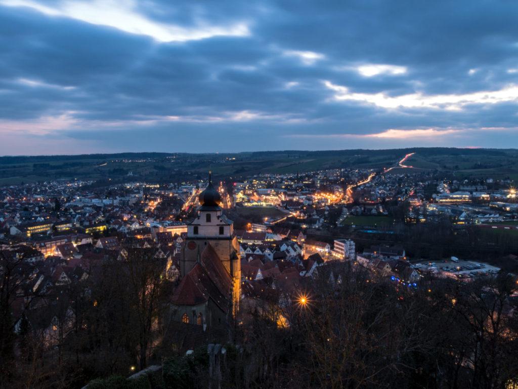 Herrenberg just after sunset