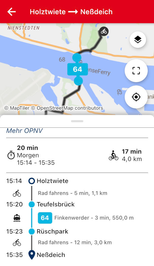 Not Without My Bike directions with ferry